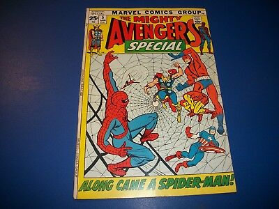 Avengers Annual #5 Silver Age Fine- Spider-man Wow