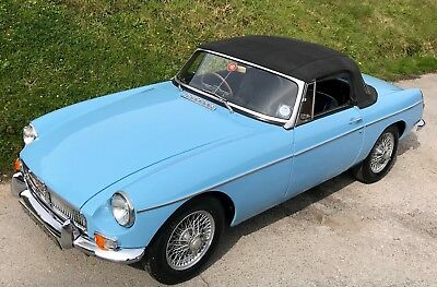 MGB Roadster 1967 Manual with Overdrive finished in Iris Blue Very Nice example