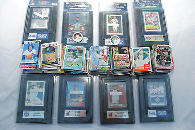 Baseball Card Collection, 900 cards plus 10 plaques inc Relic Cards, 1984-2017