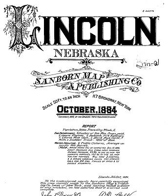 Lincoln, Nebraska~Sanborn Map© sheets~1884 and 1886 with 20 maps on a CD
