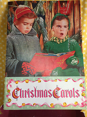Vintage 1948 Christmas Book of Christmas Carols - Beautiful VTG Picture