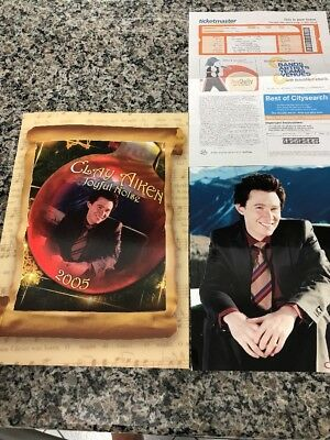 "CLAY AIKEN! 2005 JOYFUL NOISE CHRISTMAS TOUR BOOK NEW!! Plus 8""x10"" Picture"