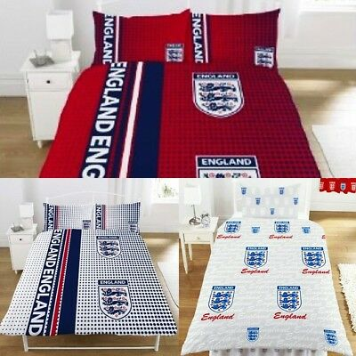 World Cup England Football Single Duvet Set Three Lions Quilt Cover Bedding Set