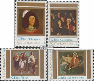 Romania 3992-3995 (complete issue) unmounted mint / never hinged 1983 Paintings