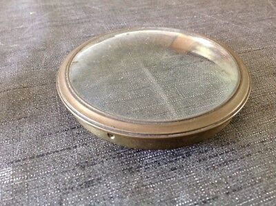 Antique Drum Clock Brass Barrel Clock Bezel Convex Glass 98mm Diameter