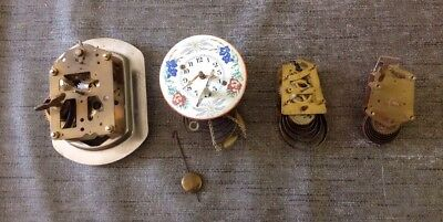 Antique Clock Parts From Clockmakers Spare Parts Collection