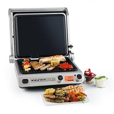 Grill contact de table 2000W Plaque vitrocéramique Plancha Panini Toast BBQ alu