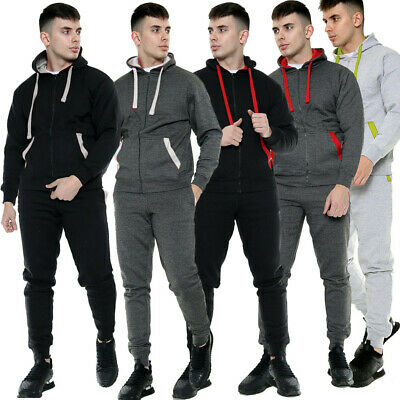 SIGNATURE Boys Plain Hooded Tracksuit Kids Jogging Bottoms & Hoodie JUNIOR 7-13