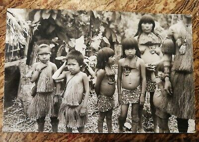 Vintage Original Wong Amazon Tribe Yagua Photo Postcard Peruvian Indians Peru