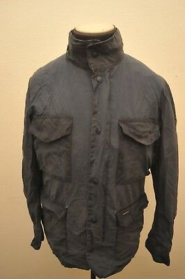 Rare Barbour Wax Cotton Tailored Sapper Jacket Blue Xl