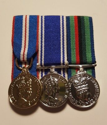 Queens Golden Jubilee and Police Service and RUC Miniature Medal Court Mounted