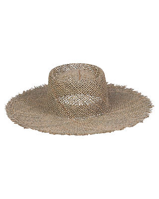 New Lack Of Color Women's Sunnydip Fray Boater Pu Natural