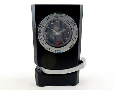 World Time Desk Clock, Pendulum Motion, Analog Face, Battery Operated ~ #CW-712B