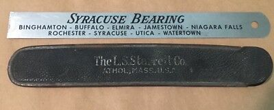 "Vintage Stainless Ruler 6"" Syracuse Bearing with Starrett Co. Sleeve"