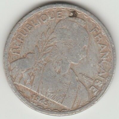 Indochine Francaise 20 Cents Ungraded Coin 1945 Vietnam