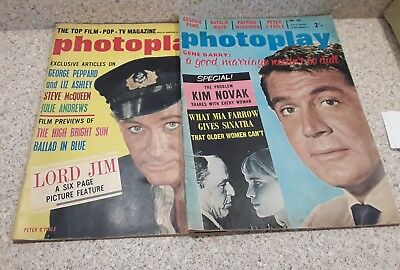 Two vintage Photoplay Magazines, March and May 1965, Fame, O'Toole, McQueen ++