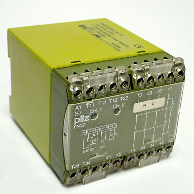 Pilz Pnoz 474695 Emergency Stop Safety Relay Contactor Coil 24 Vdc, 3.5Va 3S 1O