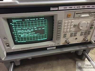 8713B Hp Agilent Rf Network Analyzer 300 Khz - 3 Ghz Opt 100 1C2 1E1 85032-60011