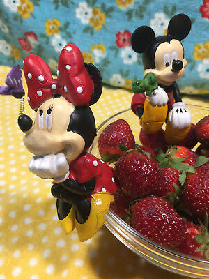 DISNEY\'S MICKEY MOUSE & MINNIE MOUSE POT SITTER\'S, GNOMES (2pcs ...