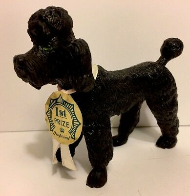 Vintage STANDARD POODLE TOY by IMPERIAL with Original 1st Place Ribbon