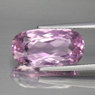 VS 9.00ct 17x9mm Oval Natural Untreated Pink Kunzite, Afghanistan