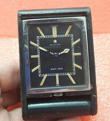 Lecoultre Walser Wald 8 Days Swiss Made Travel Clock  Art Deco Working