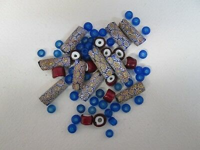 65 Old Antique / Vintage Glass / African Trade Beads In Good Condition