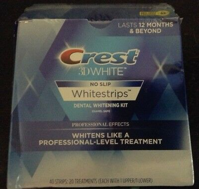 Crest 3D White Professional Effects Whitestrips Teeth Whitening 20 Strips, 2019