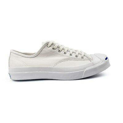 0798f7e1385d Converse Jack Purcell Signature Triple White Leather Mens Trainers New  149909C