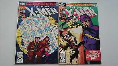 Uncanny X-Men # 141 & # 142  Set  Vg+  Days Of The Future Past  Cents 1981