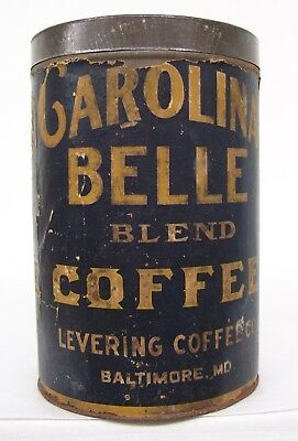 Rare!!  Carolina  Belle  Coffee Can  From  Baltimore, Md