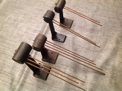 Antique Clock Chime Gong Parts Rods Westminster Base X 3 Plus 3 Chime Base