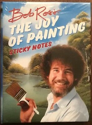 BRAND NEW IN PACKAGE!  Bob Ross Joy of Painting Sticky Notes. SEALED.
