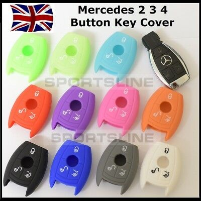 Key Cover Case for Mercedes Benz Smart Remote Fob Protector 2 3 4 Button Car 70