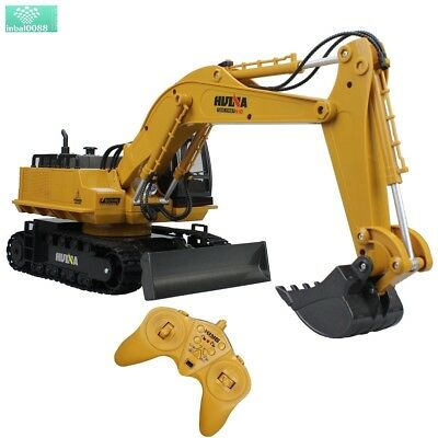 Remote Control Backhoe Tractor Construction Loader RC Excavator Digger Vehicle