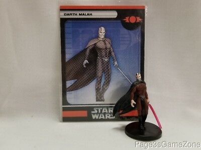 Star wars Miniatures Champions of the Force Dark Malak #11 Very Rare w/Card Sith