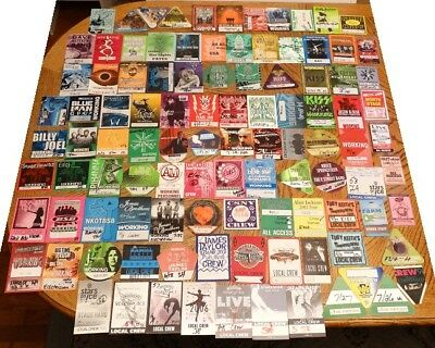 Huge Lot of 104 Concert Backstage Passes