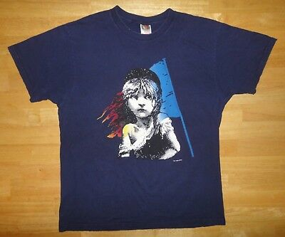 Rare 1986 Les Miserables Movie Play Promo Double-Sided T-Shirt - Size Large - Measures 21