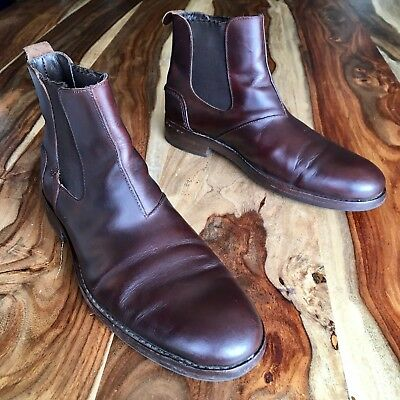 f5b20657b02 WOLVERINE MONTAGUE 1000 Mile Chelsea Boots Dark Brown Leather Size 7.5 D  W05452