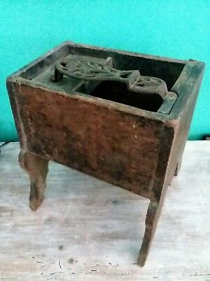 Antique 19th Century Primitive Cobblers Bench. Vintage Americana Wooden Shoe Box