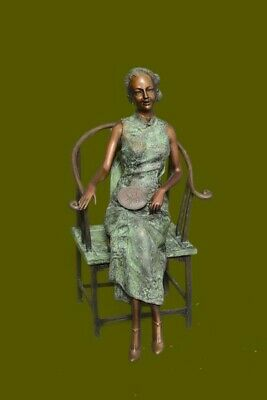 Handcrafted Detailed Museum Quality Collector Edition Well Dressed Woman Bronze