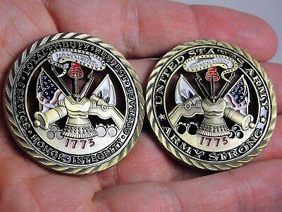 US Army / Core Values Collectible Army Challenge Coin Army Strong 1775
