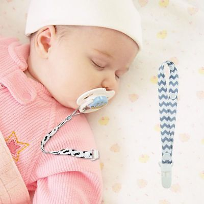 US Kids Dummy Pacifier Soother Nipple Baby Safe Nipple Leash Strap Chain Clip