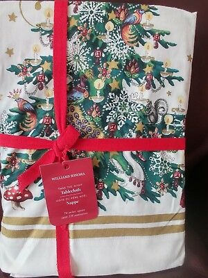 Williams Sonoma Twas The Night Before Christmas Square Tablecloth 70x70""