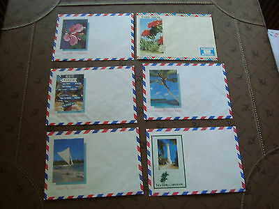 new caledonia 6 envelopes without stamp (cy15) new caledonia