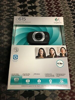 New Logitech C615 Web Cam For PC And Mac Computers