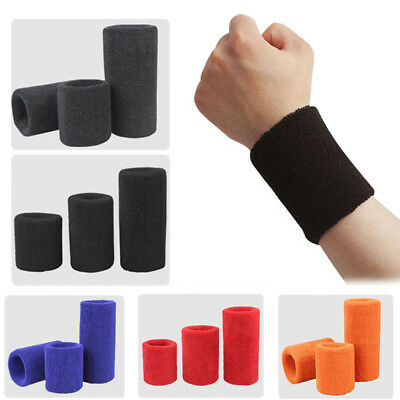 Wrist Bands Sweat Bands Unisex Cotton for Sports Gym Tennis Running Cycling
