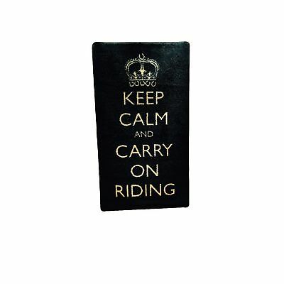 Pet Rebellion Keep Calm & Carry On Riding Türmatte (TL3116)