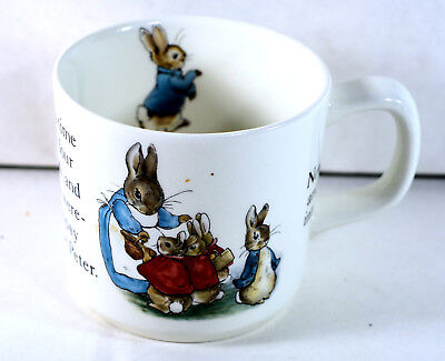 Wedgwood PETER RABBIT Beatrix Potter Child's Mug. Frederick Warne Co. England