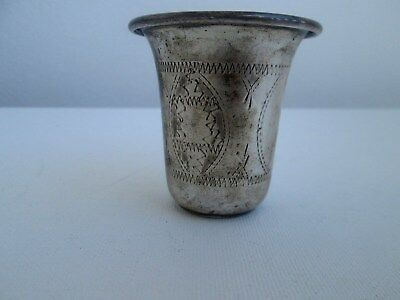 .vintage  Sterling Silver Kaddish Cup 38.5 Grams. Old Jewish Silver. Pre-Wwii.